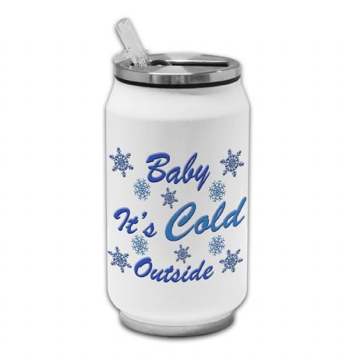 Baby It's Cold Outside Novelty Christmas Novelty Thermos Drinking Can